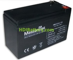 Bateria de Plomo 12 Voltios 7.5 Amperios (151x65x94mm)